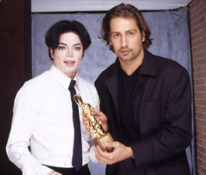 Michael Jackson with Alex Gernandt
