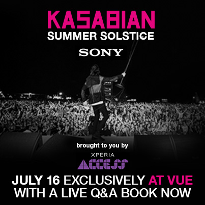 Kasabian Summer Solstice Vue Cinemas