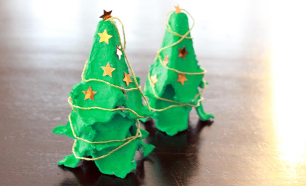 Weihnachtsbasteln Mit Eierkarton Tannenbaumchen Mama Macht Spass