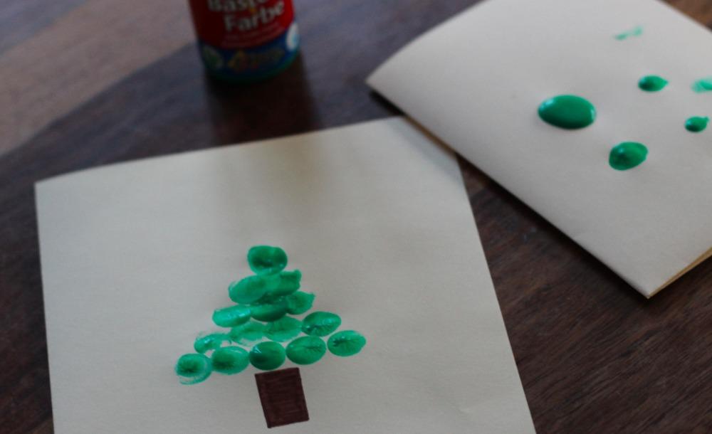 Weihnachtskarten Mit Fingerabdruck.Fingerabdruck Weihnachtskarten Mama Macht Spaß