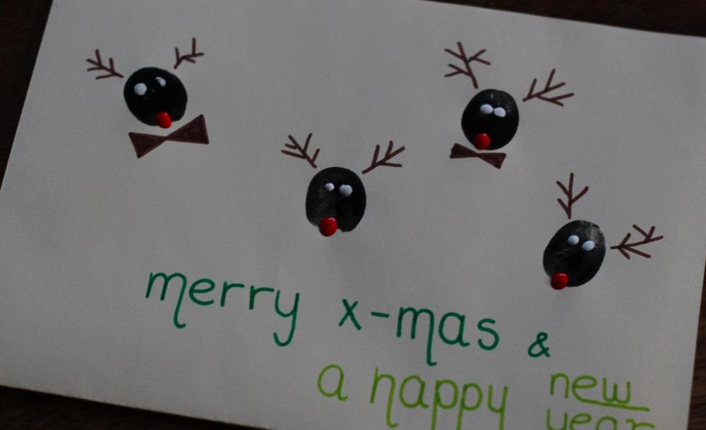 Fingerabdruck Weihnachtskarten Mama Macht Spass