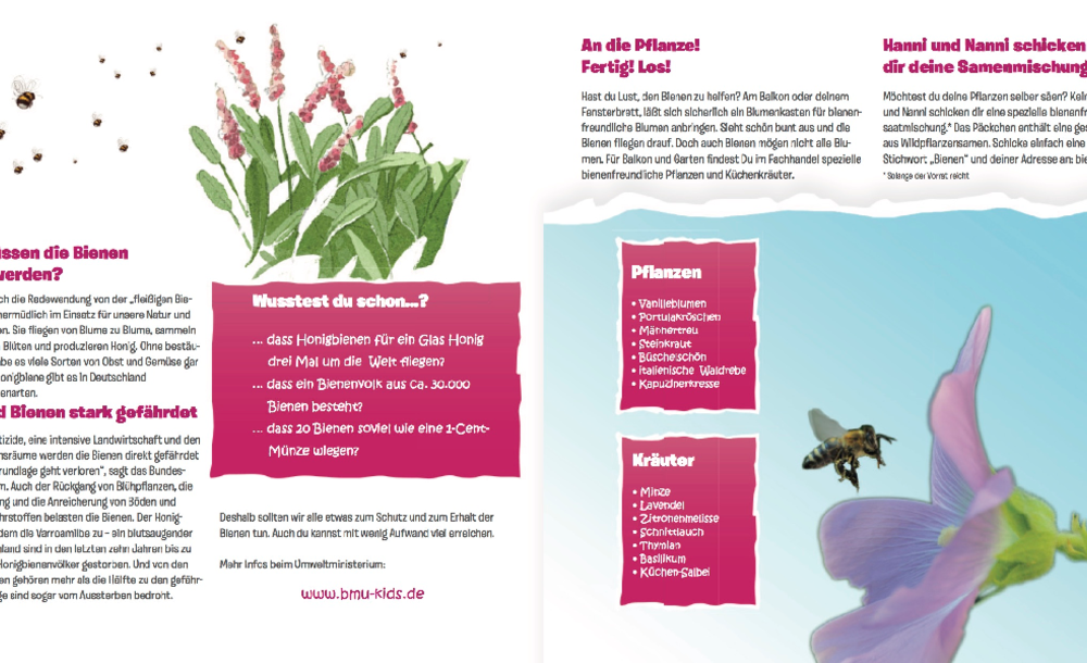Flyer zur Aktion zum Weltbienentag