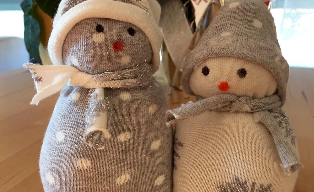 Die Sind Aber Hübsch Kleine Socken Schneemänner Basteln