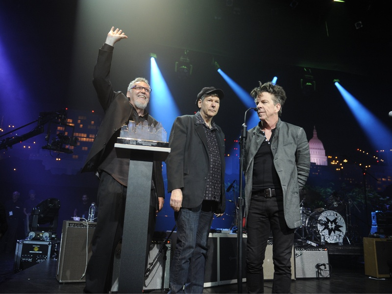 Reese Wynans, Tommy Shannon and Chris Layton at Austin City Limits Hall of Fame Induction ceremony