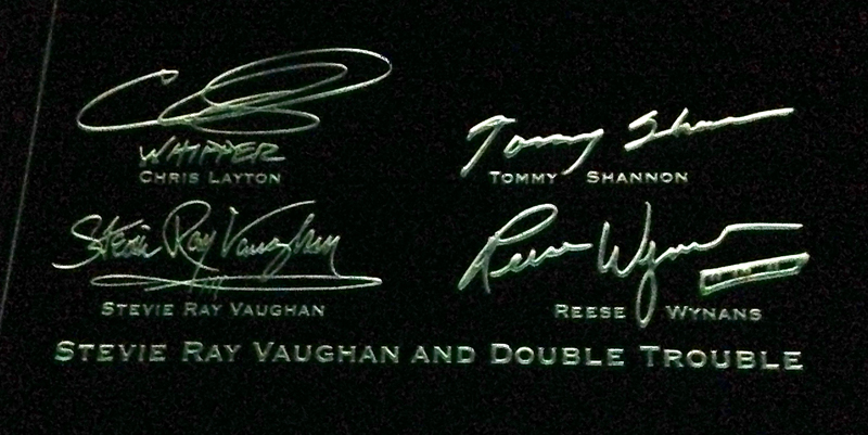 Stevie Ray Vaughan and Double Trouble signatures at Rock and Roll Hall of Fame