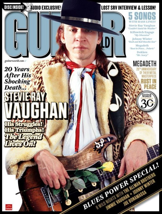 Stevie Ray Vaughn on the cover of Guitar World